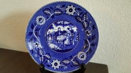 Teadrinker Blauw - Ontbijtbordje ca 20 cm doorsnede