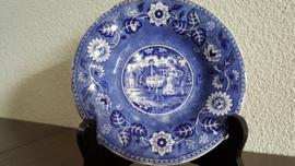 Teadrinker Blauw - Los schoteltje voor kopje - 14 cm gegolfd