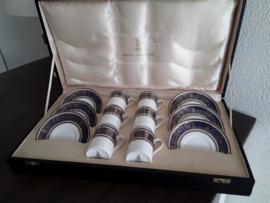 Imperial Blue - Geschenk koffer met 6 kop en schotels