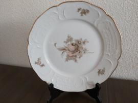 Sanssouci Brown Rose - Lunchbord 22 cm