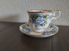 Blue Flower - Kop en schotel (damesmodel)