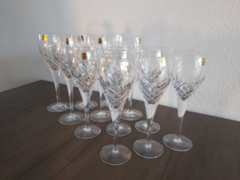 12 loodkristallen glazen (hand geslepen) uit polen