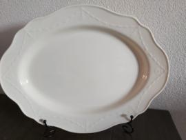 Creamware Guirlande (Garland) - Serveerschaal ovaal ca 41 x 32 cm