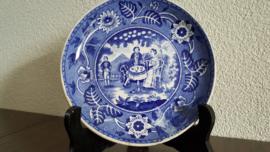 Teadrinker Blauw - Los schoteltje voor kopje - 14.5 cm lichter gekleurd