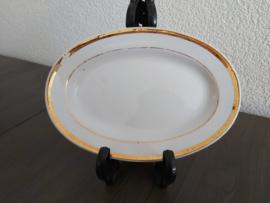 Poppenservies met gouden bies - Vleesschaaltje A 15,5 cm