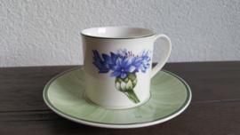 Flora - Koffiekop en schotel (Korenbloem)
