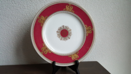 Columbia Ruby Powder Raised Gold - Dinerbord 27.5 cm