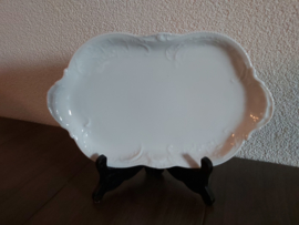 Sanssouci White - Vleeswarenschaaltje rechthoekig ca 25 x 15 cm