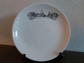 Amsterdamse Grachten - Plat bord 23 cm - Haarlemmersluis