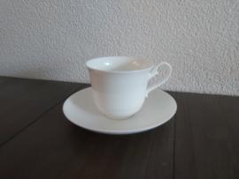 Royal Weiss -  Koffiekop en schotel