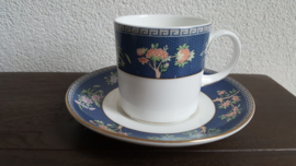 Blue Siam - Koffiekop en schotel CAN model