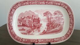 Old England - Serveerschaal Rood 32 x 21 cm