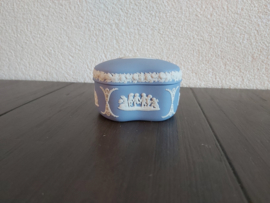 Jasperware lichtblauw - Box 7,5 cm doorsnede 5 cm hoog