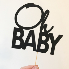 "Caketopper ""Oh Baby"""