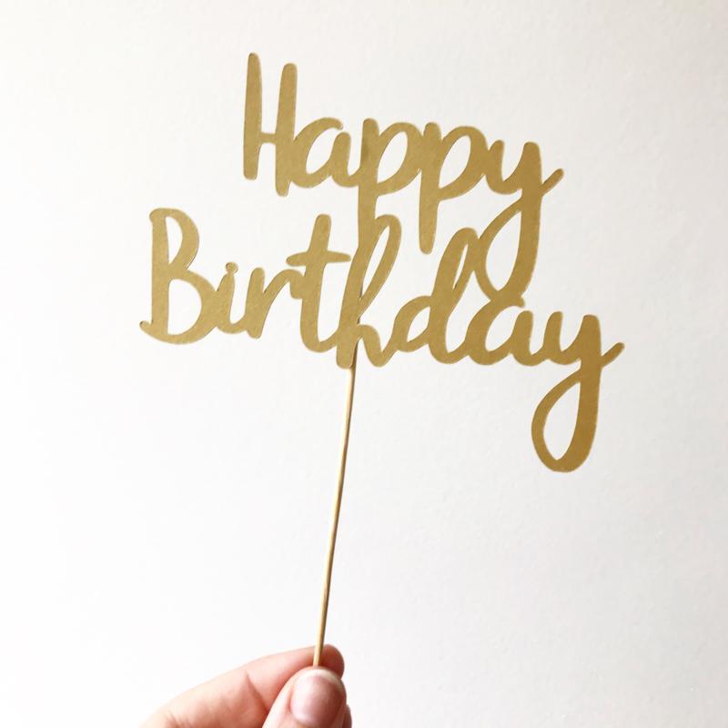"""Caketopper """"Happy birthday"""""""