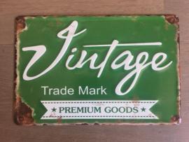 vintage bordje