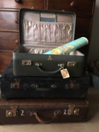 vintage groene koffer