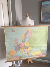 vintage wandkaart Europa