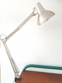 Vintage industriële klemlamp schaarlamp zilver