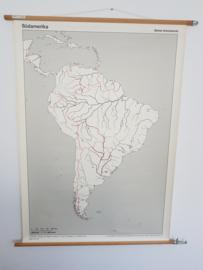 """vintage schoolplaat  """"Sudamerika"""""""