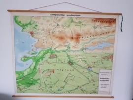 vintage wandkaart aardrijkskundige grondbegrippen