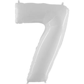 FOLIE BALLON CIJFER '7 WIT' (1ST)