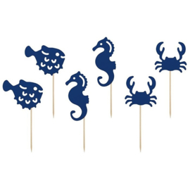 CUPCAKE TOPPERS 'AHOY!' (6ST)
