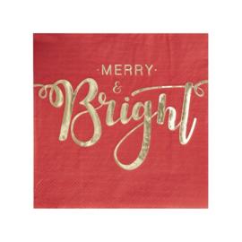 SERVETTEN 'MERRY & BRIGHT' GINGER RAY (20ST)