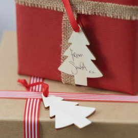 LABELS 'HOUTEN KERSTBOOM' GINGER RAY (6ST)