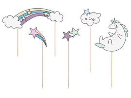 TAARTTOPPERS 'UNICORN' MAKE A WISH (5ST)