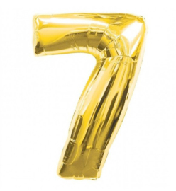 FOLIE BALLON CIJFER '7 GOUD' (1ST)