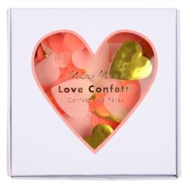 CONFETTI 'LOVE ROZE/GOUD' MERI MERI (30GR)