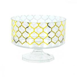 SNOEPSCHAAL TRIFLE JAR PLASTIC 'GOLD MORROCAN PRINT' (1ST)
