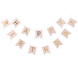 SLINGER 'HAPPY BIRTHDAY PASTEL ROZE/GOUD' (1ST)