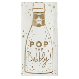 SERVETTEN 'CHAMPAGNEFLES POP THE BUBBLY' GINGER RAY (16ST)