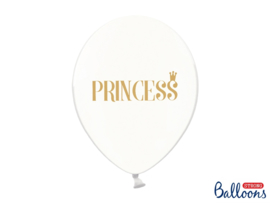 LATEX BALLONNEN 'TRANSPARANT' PRINCESS (6ST)