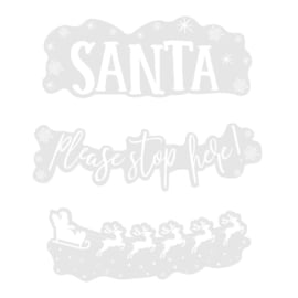 RAAMSTICKER 'SANTA STOP HERE' NOVELTY CHRISTMAS - 1 STUKS