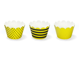 CUPCAKE WRAPPERS 'BEE' (6ST)