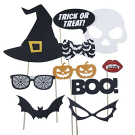 PHOTOBOOTH PROPS 'TRICK OR TREAT PARTY' - 10 STUKS