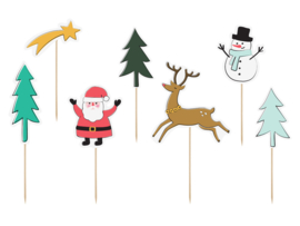 CUPCAKE TOPPERS 'MERRY XMAS' (7ST)