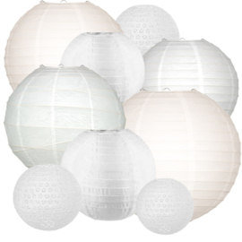 LAMPIONNEN PAKKET 'ALL WHITE XLARGE' (40ST)