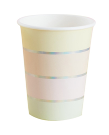 PAPIEREN BEKERS 'PASTEL PARTY' GINGER RAY (8ST)