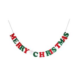 LETTER SLINGER 'MERRY CHRISTMAS' ROOD/GROEN - 1 STUKS