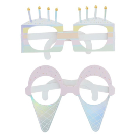 PHOTOBOOTH PROPS BRILLEN 'PASTEL PARTY' GINGER RAY (8ST)