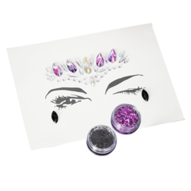 HALLOWEEN GLITTER MAKE-UP GINGER RAY  (1SET)