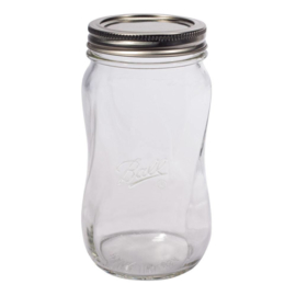 BALL MASON JAR 'ELITE SPIRAL PINT 16OZ / 475 ML REGULAR MOUTH' (1ST)