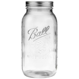 BALL MASON JAR 'HALF GALLON 64OZ / 1,96L WIDE MOUTH' (1ST)