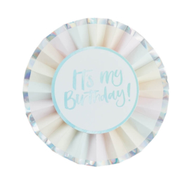 BADGE 'IT'S MY BIRTHDAY' GINGER RAY (1ST)