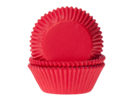 CUPCAKE VORMPJES 'ROOD' HOUSE OF MARIE (50ST)
