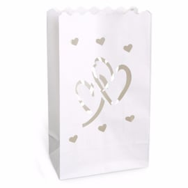 CANDLE BAGS LOVE THEMA 'HARTJES' (10ST)